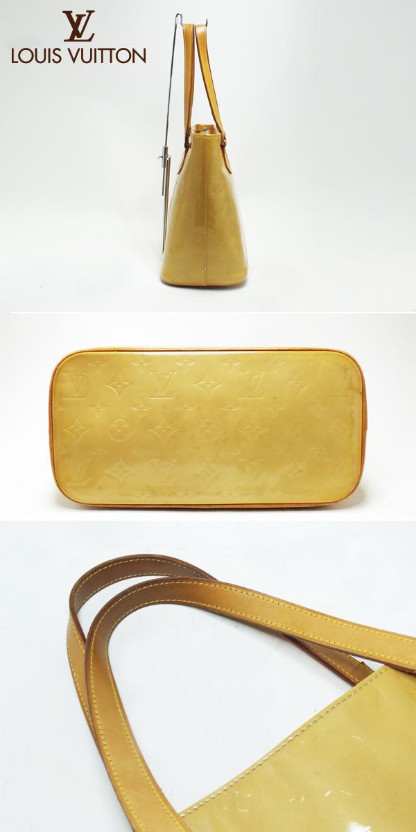526b3f978d06 LOUIS VUITTON Louis Vuitton Monogram Vernis Houston M91055 Lime yellow  yellow shoulder bag used