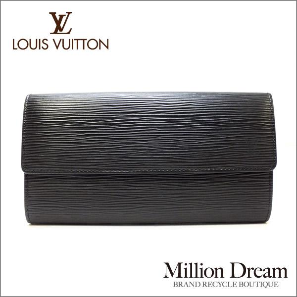 LOUIS VUITTON ルイヴィトンエピ ノワール ブラック 黒ポシェット・ポルトモネクレディ M63592長財布 【中古】
