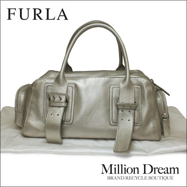 FURLA フルラレザー ハンドバッグ中古 送料無料