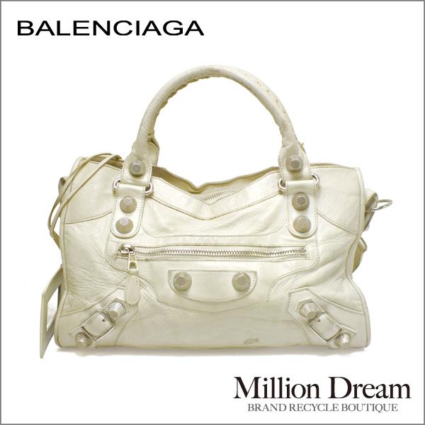 BALENCIAGA バレンシガバレンシアガ・ザ・ファーストレザー ホワイト 白中古 バッグ 送料無料
