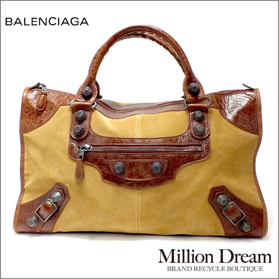d52733c7ff BALENCIAGA balenciaga giant work top handle bag camel Brown handbag