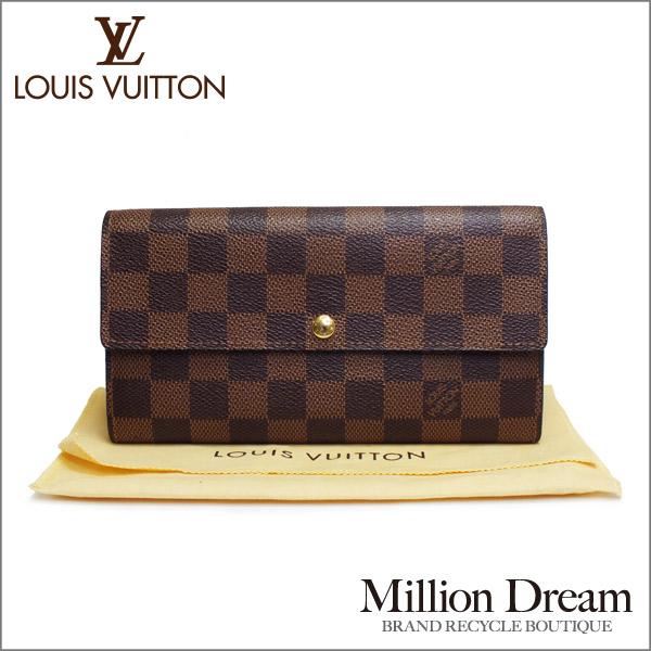 LOUIS VUITTON ルイヴィトンダミエ 財布ポルトフォイユ・サラ N61734中古 美品 送料無料