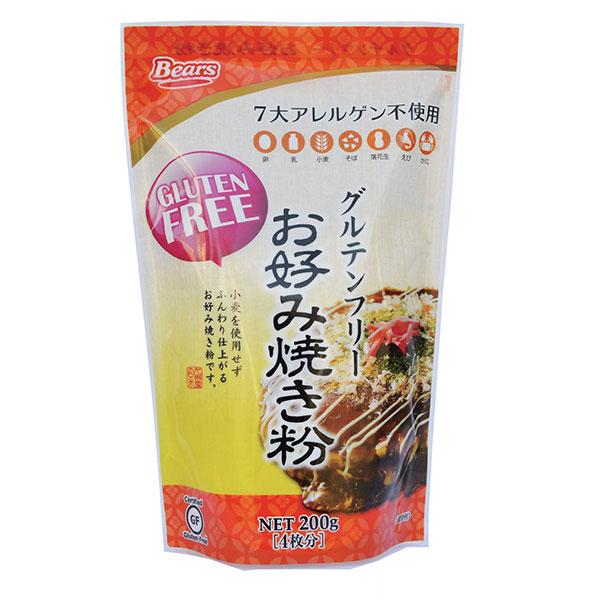 グルテンフリー お好み焼き粉 年間定番 定番から日本未入荷 200g 玄米粉使用 T8 小麦不使用 TY-J-K