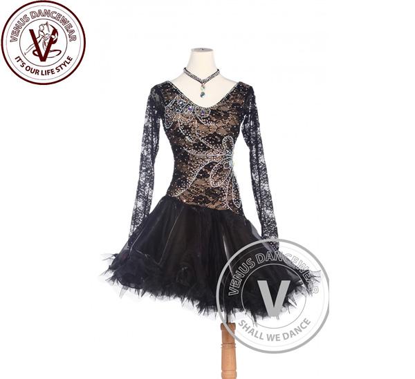 ■ヴィーナスダンスウェア(VENUS DANCEWEAR)ゴールデンエレガントなアメリカ リズム サルサ ルンバラテン コンクール ダンスドレス・■(社交ダンス 衣装 ウェア ドレス トップス スカート シューズ ダンス トップス 服 パンツ ドレス)