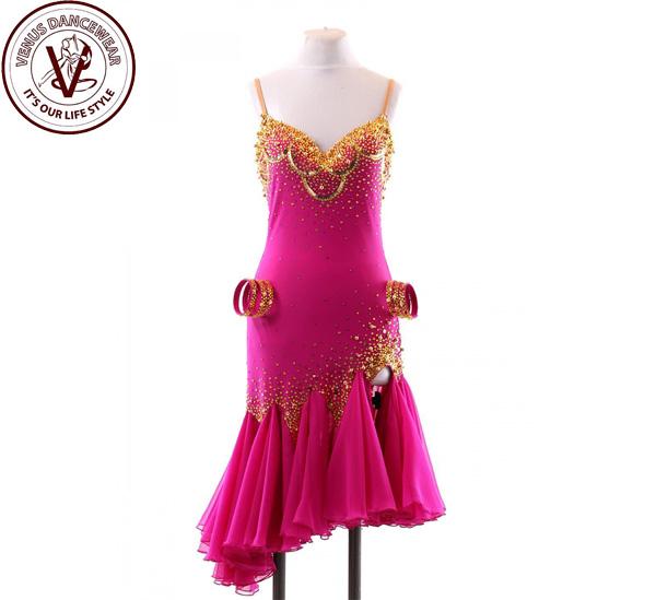 ■ヴィーナスダンスウェア(VENUS DANCEWEAR)世界クラス ラテン コンクール ドレスS109・■(社交ダンス 衣装 ウェア ドレス トップス スカート シューズ ダンス トップス 服 パンツ ドレス)