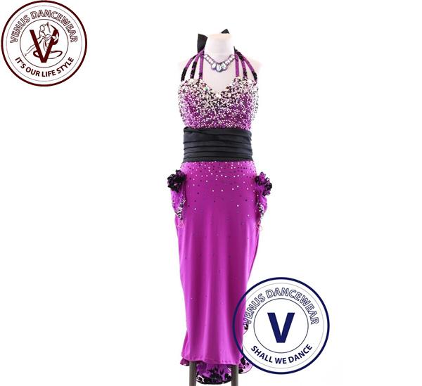 ■ヴィーナスダンスウェア(VENUS DANCEWEAR)世界クラス ラテン コンクール ドレスS111・■(社交ダンス 衣装 ウェア ドレス トップス スカート シューズ ダンス トップス 服 パンツ ドレス)