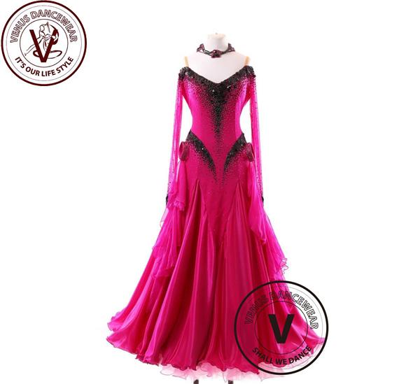 ■ヴィーナスダンスウェア(VENUS DANCEWEAR)世界クラス ボールルーム 競技用ドレスS121・■(社交ダンス 衣装 ウェア ドレス トップス スカート シューズ ダンス トップス 服 パンツ ドレス)