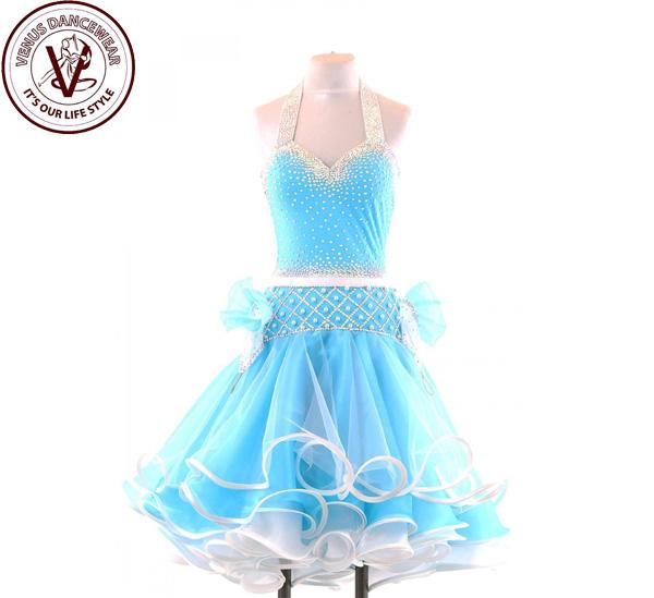 ■ヴィーナスダンスウェア(VENUS DANCEWEAR)世界クラス ラテン コンクール ドレスS127・■(社交ダンス 衣装 ウェア ドレス トップス スカート シューズ ダンス トップス 服 パンツ ドレス)