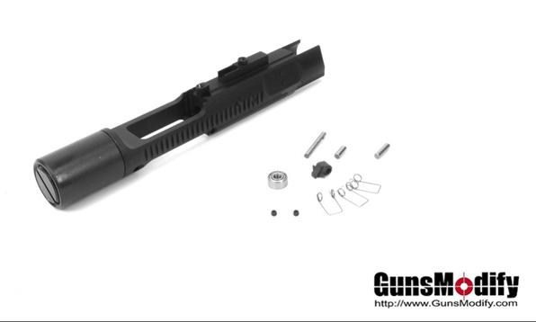 Gunsmodify ガンズモディファイ マルイMWS M4対応 CNCアルミ製 ゼロボルトシステム 内蔵スピード ボルトキャリアー BK COLT カスタム オプション パーツ