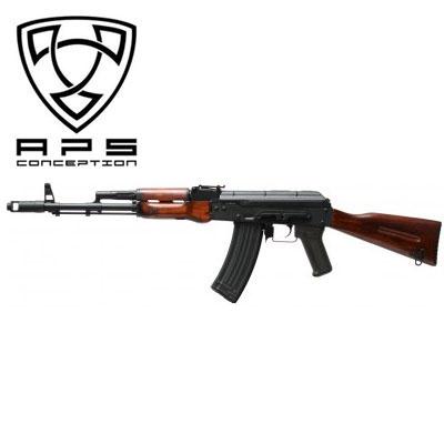 APS airsoft製 AK74リアルウッドストック ブローバックシステム内蔵モデル 18歳以上対象