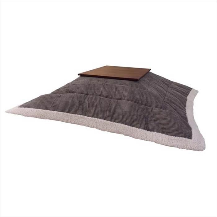 ふんわり厚めのシンプルでボリュームタップリ こたつ布団 グレー【まと3】で送料無料