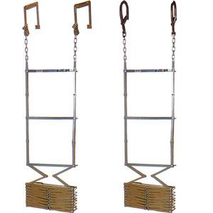オリロー4型 金属製折りたたみ式避難はしご 全長約4m 【避難器具/避難はしご/梯子】