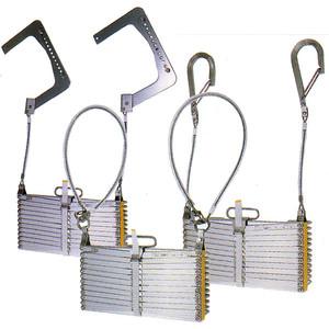OA4型 アルミ式 折りたたみ式避難はしご 有効長3630m 【避難はしご/避難器具/梯子】