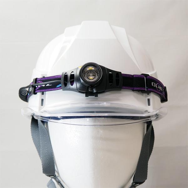 ヘルメット用カスタム LEDフラッシュライト(ヘッド仕様)  200ルーメン MF418H 【ヘルメット】
