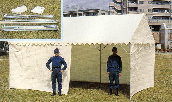 OK式テント1.5×2間 三方幕付 【避難生活用品】