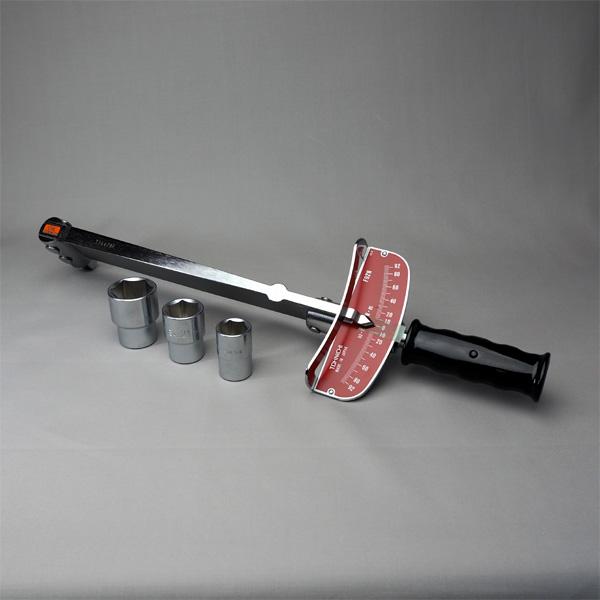 トルクレンチ(1/2×17、21、26ソケット付) 【防災用品/消防設備点検用具】