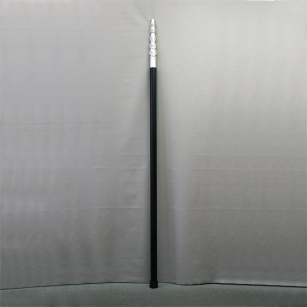 支持棒9m アルミ製 6段 ピンロック併用タイプ SANWA製【消防設備点検用具】