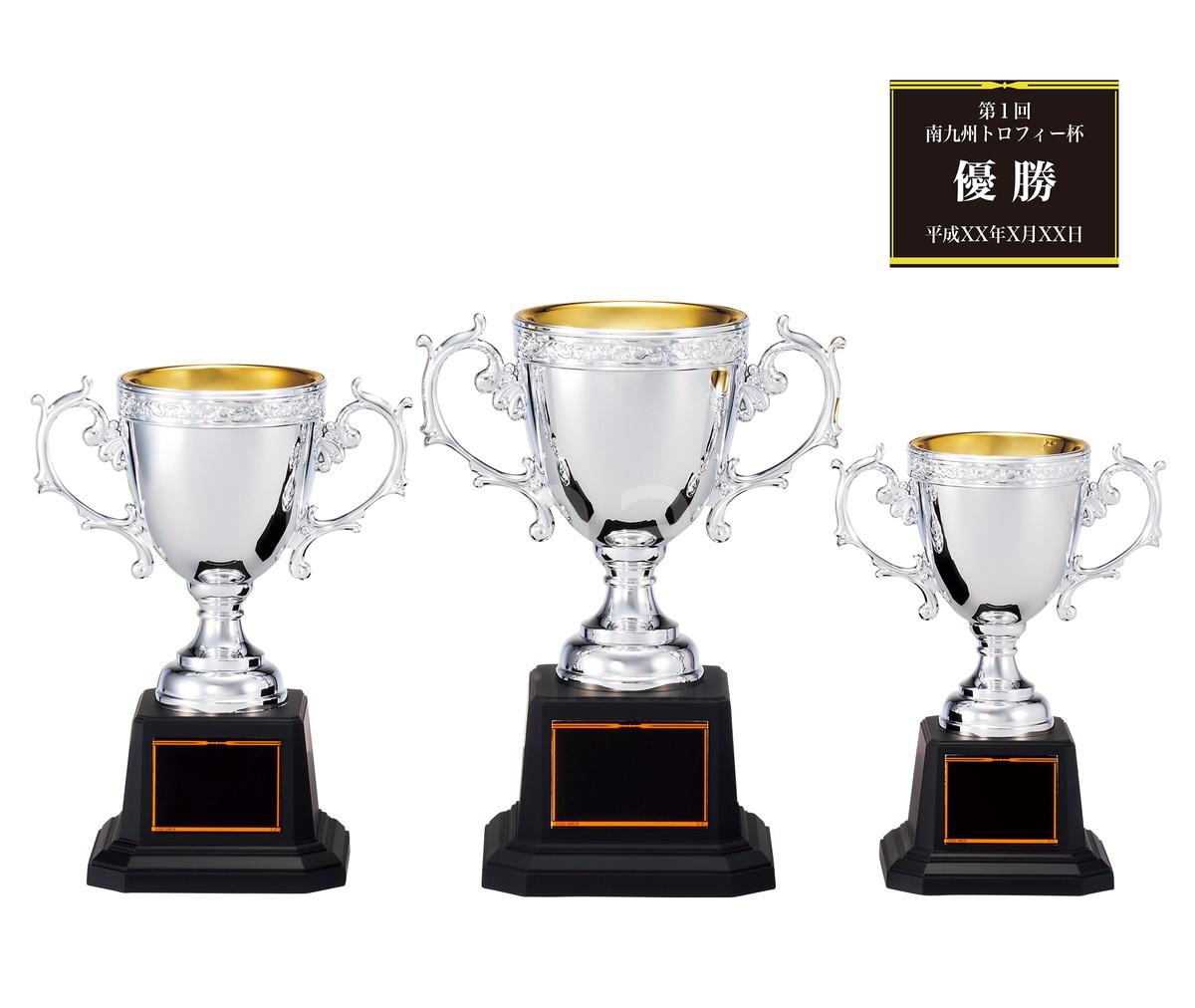 南九州トロフィーなら550種類から 優勝カップ 表彰カップ 樹脂製プラカップ CP145-Bサイズ 高さ19.5cm 南九州トロフィー 重さ400g お得なキャンペーンを実施中 早割クーポン レーザー彫刻 口径8cm 文字彫刻代無料 化粧箱入り