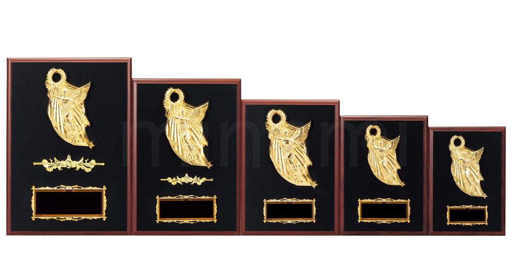 優勝楯 盾 ・表彰 楯★K1029-Eサイズ(縦21cm 横15cm 重さ380g)【激安】【化粧箱入り】【レーザー彫刻・文字彫刻代無料】南九州トロフィー