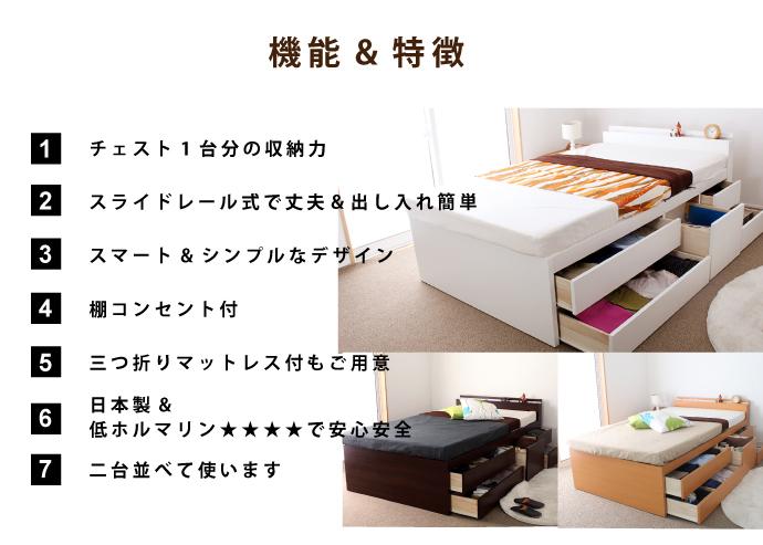 싱글 사이즈 모든 인출을 슬라이드 레일 달린 스토리지 체스 트 침대 체스 트 (서랍)와 침대 한 개가 되었다. 아래 수납의 지시선은 총 5 개.
