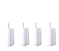平成ラストセール【全品10%OFF】脚付きマットレスベッド用木脚10cmホワイト4本セット(1台分)