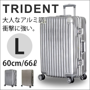 スーツケース Lサイズ 4泊 5泊 6泊 大型シフレ トライデント TRIDENT アルミ調頑丈 頑強 フレームタイプ かっこいい メンズ レディース≪TRI1030≫60cm
