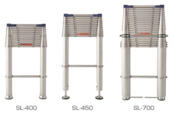 入荷予定 代引き 日時指定不可 伸縮はしご 梯子 ラダー ハシゴ 全長4.15m コンパクト スーパーラダー 自在脚 SL-400 高品質 折り畳み