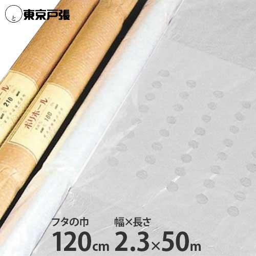 開閉式農ポリ ポリホール 2本セット 厚さ0.05mm×幅230cm×長さ50m (フタ巾120cm)