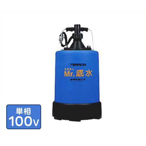 寺田ポンプ 水中ポンプ(底水用) S-500LN (100V500W)口径25Φ残水処理用 [テラダポンプ]