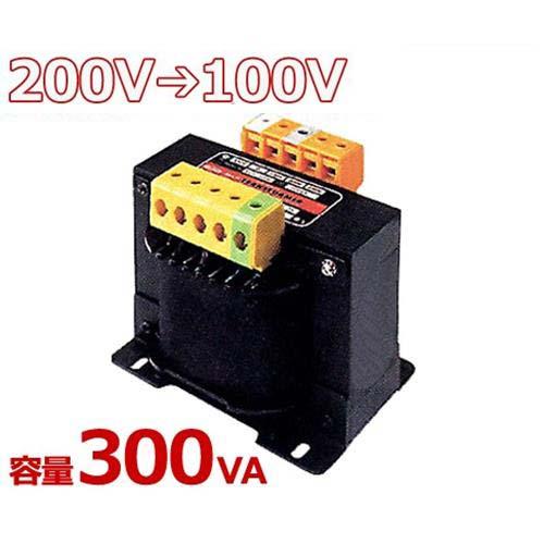 スワロー 複巻きダウントランス M21-300E (200V⇒100V/容量300VA/単体型) [変圧器 降圧トランス]