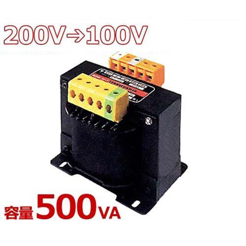 スワロー 複巻きダウントランス M21-500E (200V⇒100V/容量500VA/単体型) [変圧器 降圧トランス]