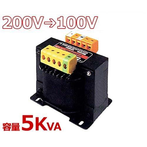スワロー 複巻きダウントランス M21-5KE (200V⇒100V/容量5KVA/単体型) [変圧器 降圧トランス]