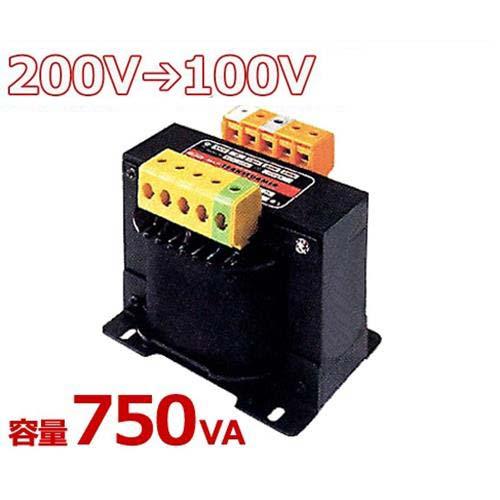 スワロー 複巻きダウントランス M21-750E (200V⇒100V/容量750VA/単体型)