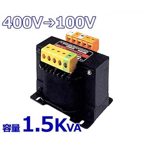 スワロー 複巻きダウントランス M41-1.5KE (400V⇒100V/容量1.5KVA/単体型) [変圧器 降圧トランス]