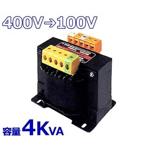 スワロー 複巻きダウントランス M41-4KE (400V⇒100V/容量4KVA/単体型) [変圧器 降圧トランス]