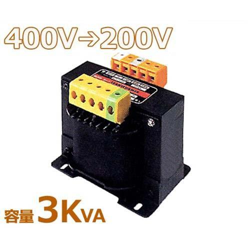 スワロー 複巻きダウントランス M42-3KE (400V⇒200V/容量3KVA/単体型) [変圧器 降圧トランス]