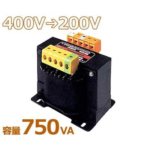 スワロー 複巻きダウントランス M42-750E (400V⇒200V/容量750VA/単体型) [変圧器 降圧トランス]