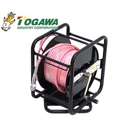 十川産業(TOGAWA) エアーホースリールセット 《40キロ耐圧用ホース30m付き》