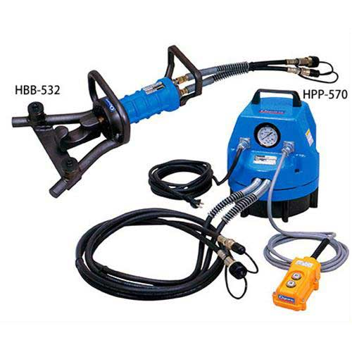 [最大1000円OFFクーポン] オグラ 電動油圧式セパレート鉄筋曲機 HBB-532+油圧ポンプHPP-570セット