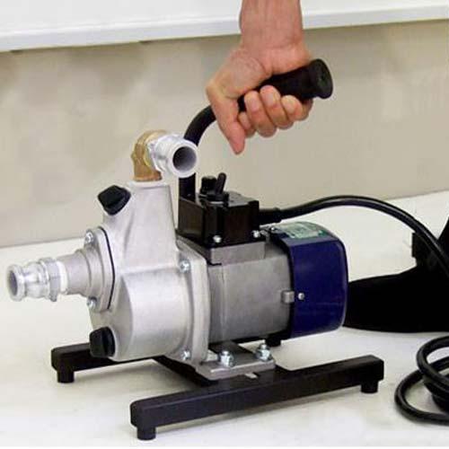 工進 油 対応バッテリーポンプ FS-24D型 (DC24V) ポンプ本体持ち手ベース付き