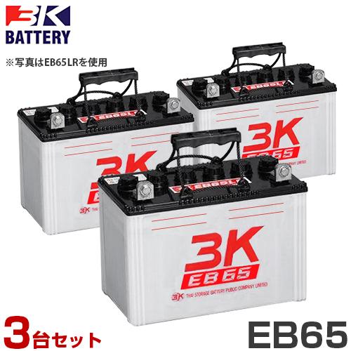スリーキング(3K) サイクルバッテリー EB65 3台セット (LL型/T型)