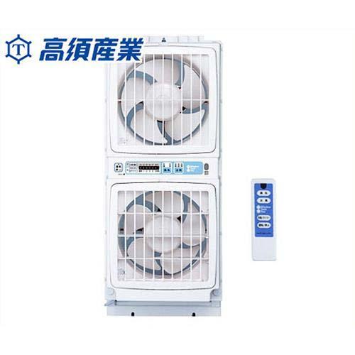 [最大1000円OFFクーポン] 高須産業 同時給排形窓用換気扇 FMT-200S (ツインファン)