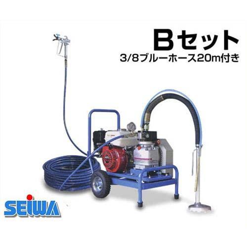 精和産業 エアレス塗装機 スーパー101GE Bセット (3/8ブルーホース20m付き)