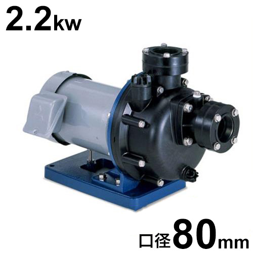 寺田ポンプ 3インチ樹脂製自吸式ポンプ CMP6-52.2E/CMP6-62.2E (三相200V/2.2kw/口径80A) [設備用ポンプ ・テラダポンプ]