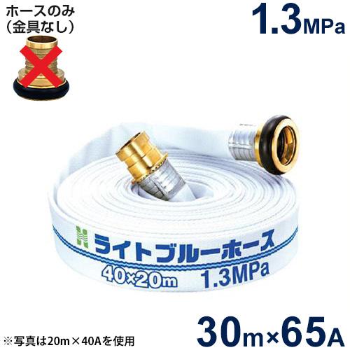 報商 散水用ホース ライトブルーホース1.3MPa 65A×30m (ホースのみ)