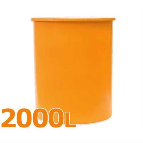 スイコー 丸型タンク M型容器 M-2000 (フタなし/容量2000L) [丸型容器]
