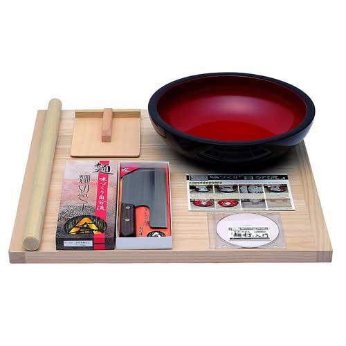 [最大1000円OFFクーポン] 本格うどん・そば用 麺打ちセット 普及型 A-1200 (入門DVD付)