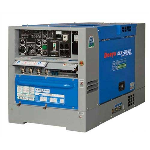 デンヨー 防音型ディーゼルエンジン溶接機 DLW-200×2LS (溶接発電兼用)