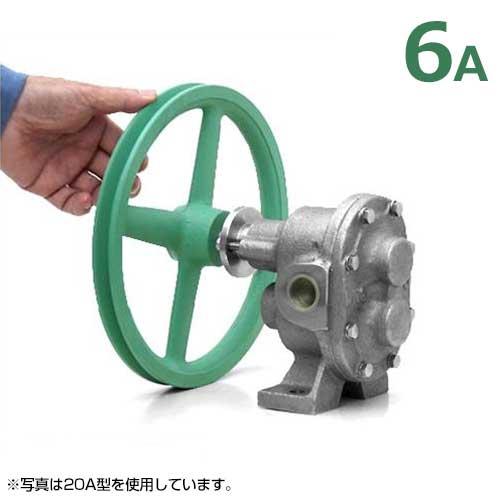 ギヤーエス工業 ステンレス製ギヤーポンプ DNGU-1型 (口径6A) 《7インチA1プーリー付き仕様》 [ギヤポンプ 灯油 軽油 A重油 廃油]