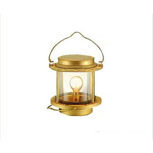 ニッセン マリンランプ 白灯 (電気式/真鍮板製) [ランタン]